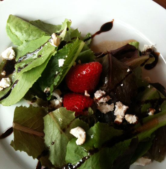 Summer Recipes: Raspberry Dressing over Strawberry Salad