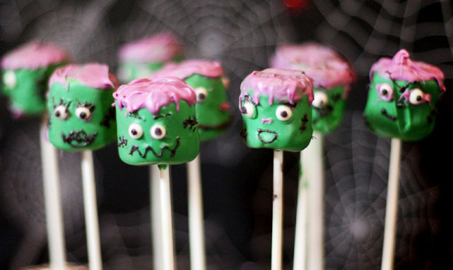 Franken Pops - Kid Friendly Halloween Treats