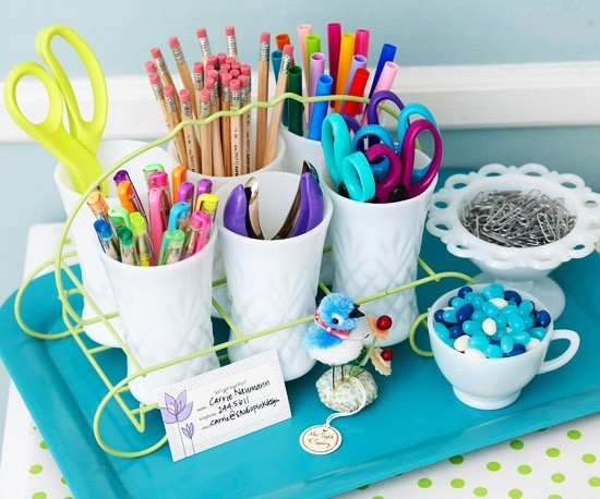 Functional Storage for School Papers and Supplies