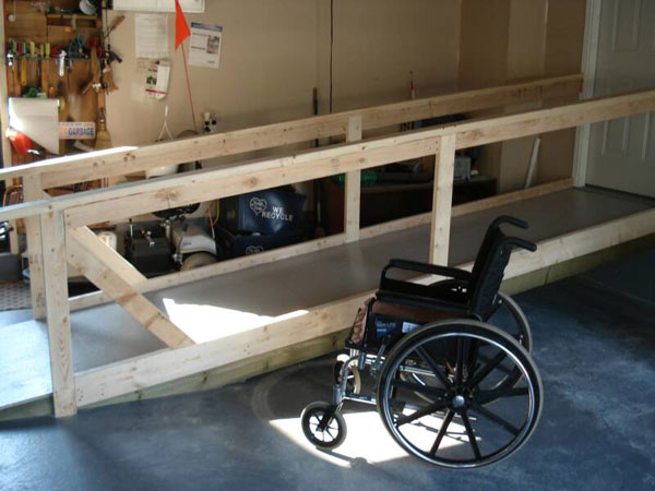 Wheelchair ramp at home