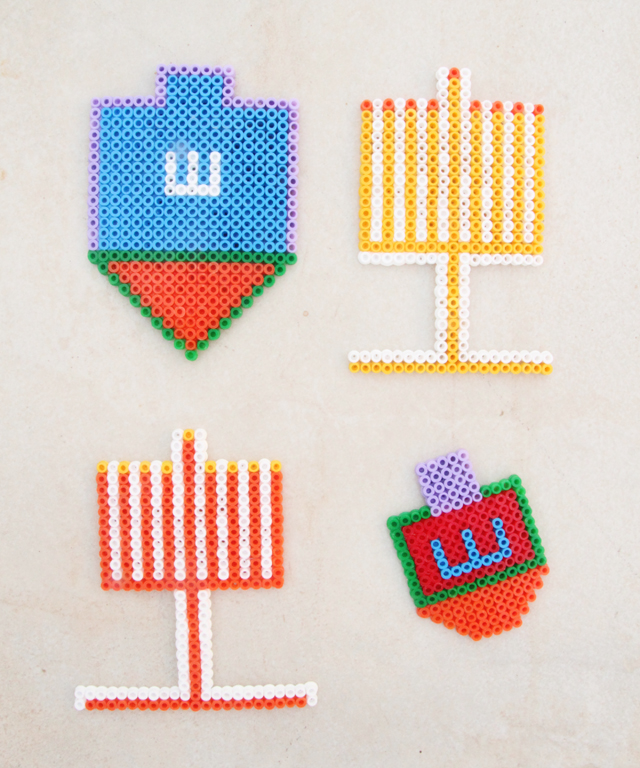 Hanukkah Crafts for Kids - Beaded Ornaments