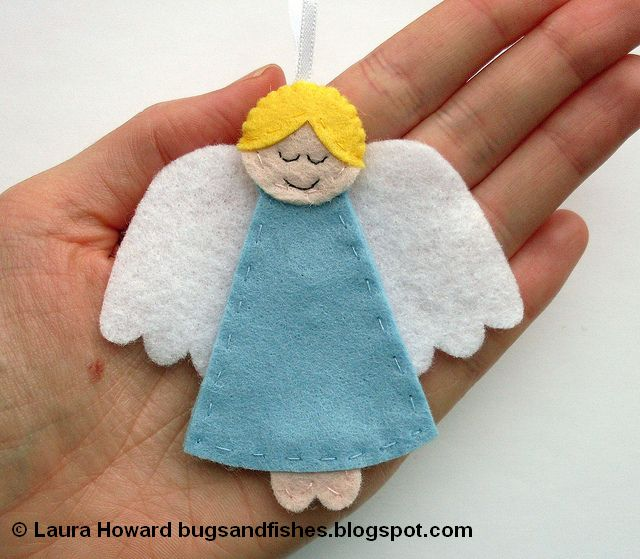 Christmas Crafts for Kids - Felt Angel