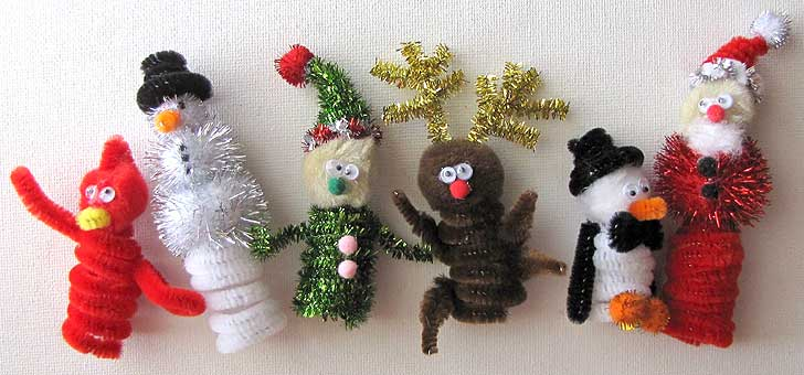 Christmas Crafts - Finger Puppets