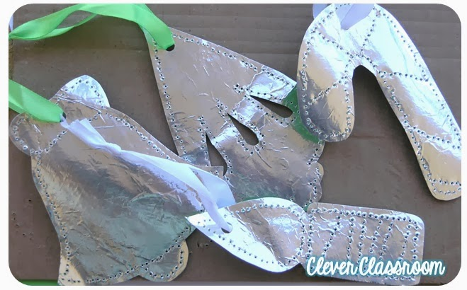 Christmas Crafts for Kids - Pinned Foil Ornaments - North Texas Kids