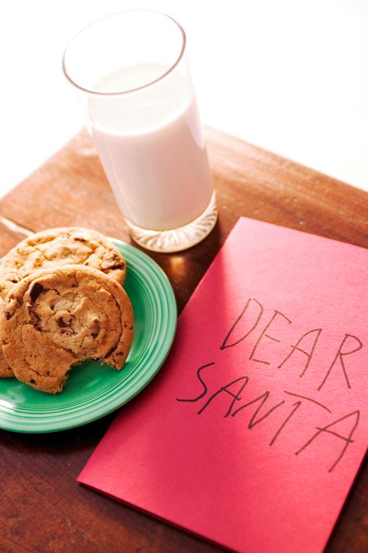 Holiday Family Traditions - Dear Santa Letter Milk & Cookies