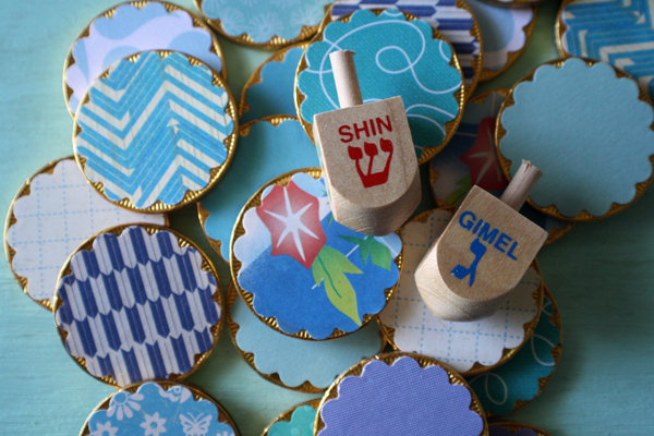 Hanukkah Crafts for Kids - Edible Memory Game