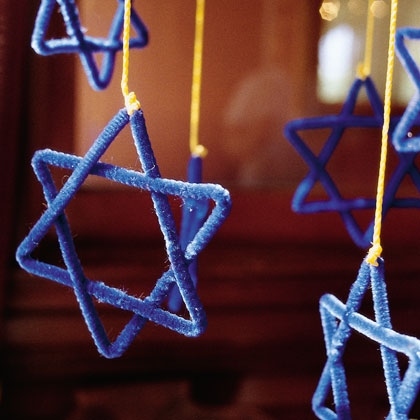 Hanukkah Crafts for Kids - Star of David Mobile