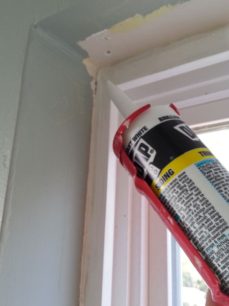 Weatherizing Windoes - Caulking
