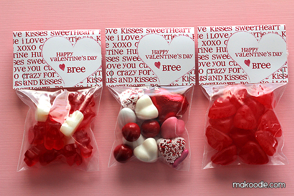 Free Valentine Printables - Treat Bag Toppers