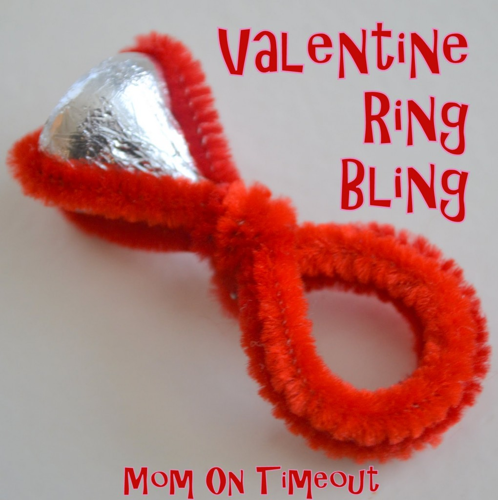 Valentine Bling Ring - Classroom Valeintes