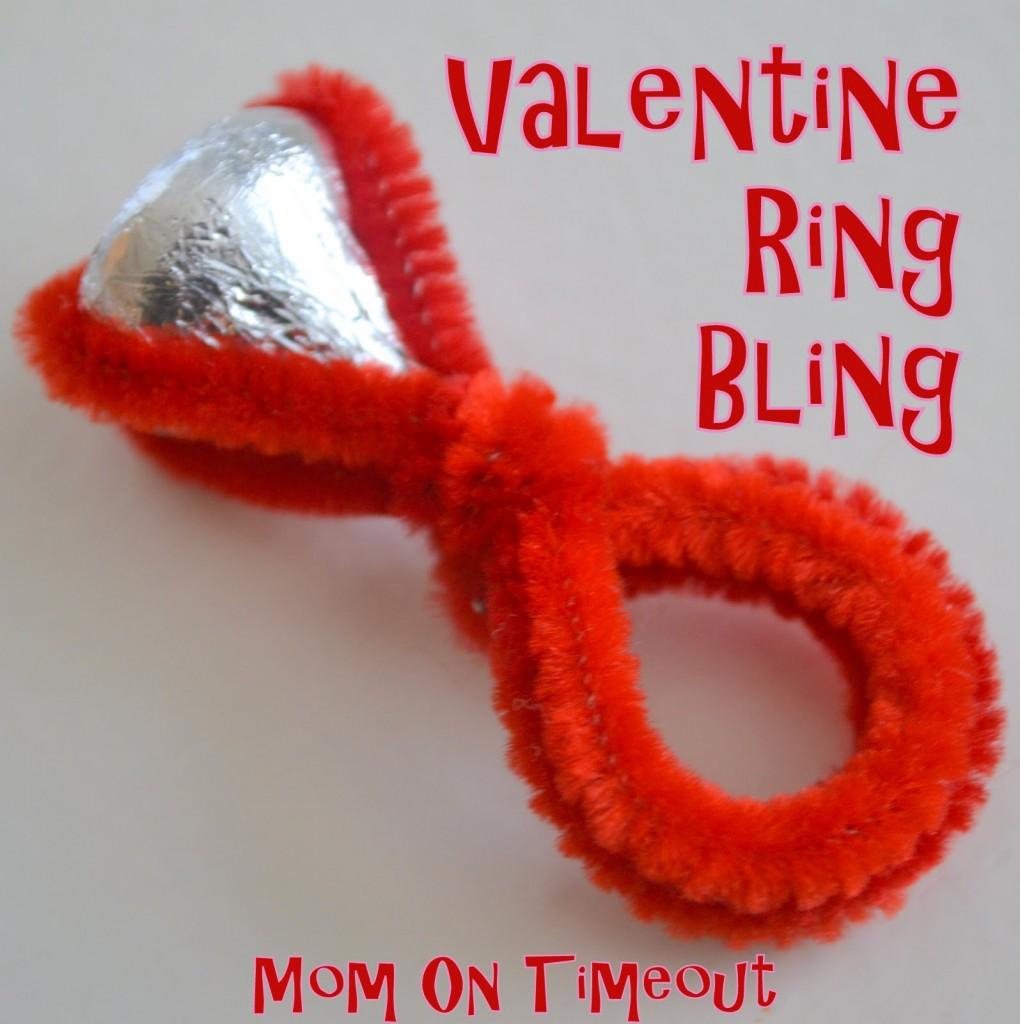 Valentine Bling Ring - Classroom Valeintes