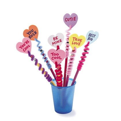 Valentine Pencil Toppers - Classroom Valentines