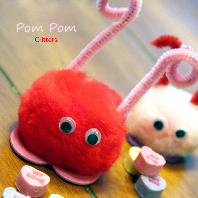 Pom Pom Critters - Classroom Valentines