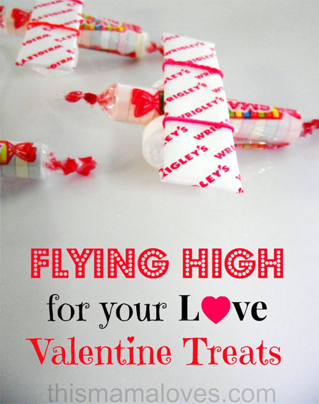 Classroom Valentines - Smarties Airplane
