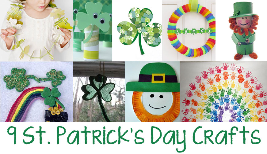 9 St. Patrick's Day Crafts - Shamrock Crafts - Kids Crafts - Rainbow Crafts - Leprechaun Crafts
