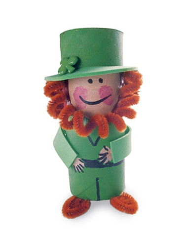Leprechaun Crafts - St Patrick's Day Crafts - Toilet Paper Leprechaun Figure
