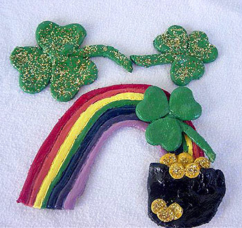 Rainbow Crafts - St Patrick's Day Crafts - salt dough rainbow