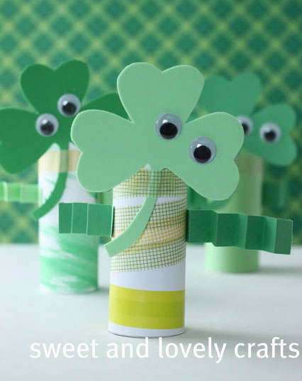shamrock Crafts - St Patrick's Day Crafts - Shamrock Figures