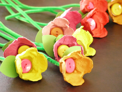 Easter Crafts - Egg Carton Tulips