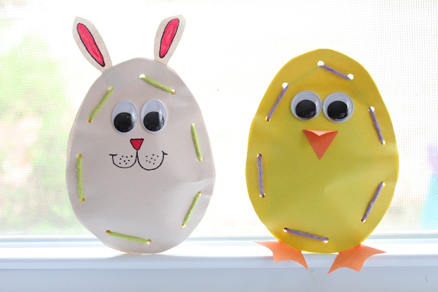 Easter Crafts - Paper Candy Pouches