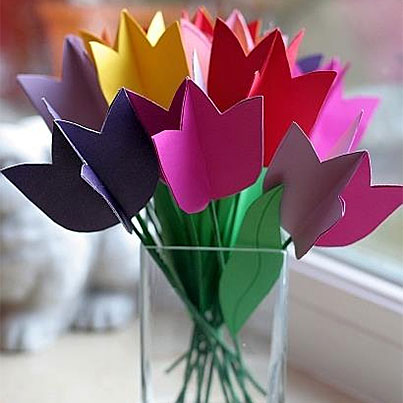 Easter Crafts - Paper Tulips