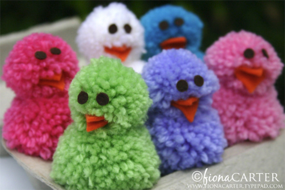 Pom Pom Chicks - Easter Crafts - North Texas Kids Magazine - Kids Crafts