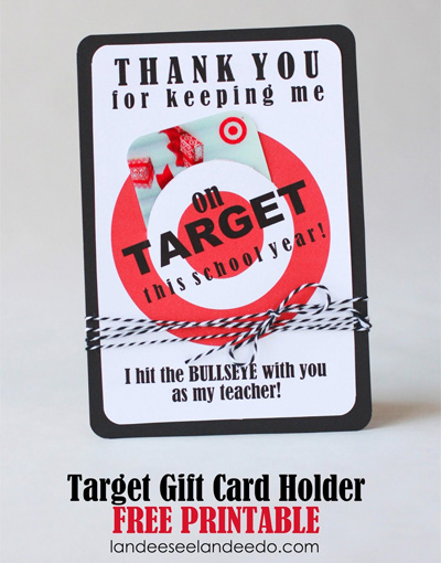 Teacher Appreciation Gift - Target Gift Card Holder