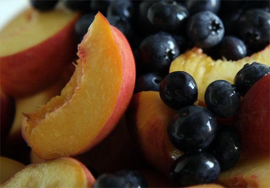 Summer Smoothie - Blueberry Peach Orange