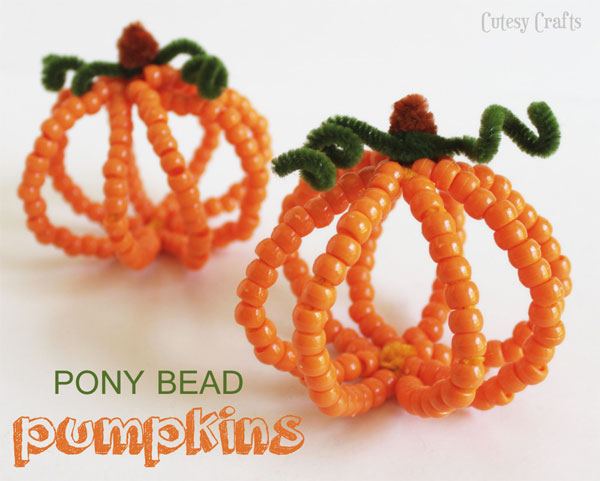Fall Crafts - Bead Pumpkins