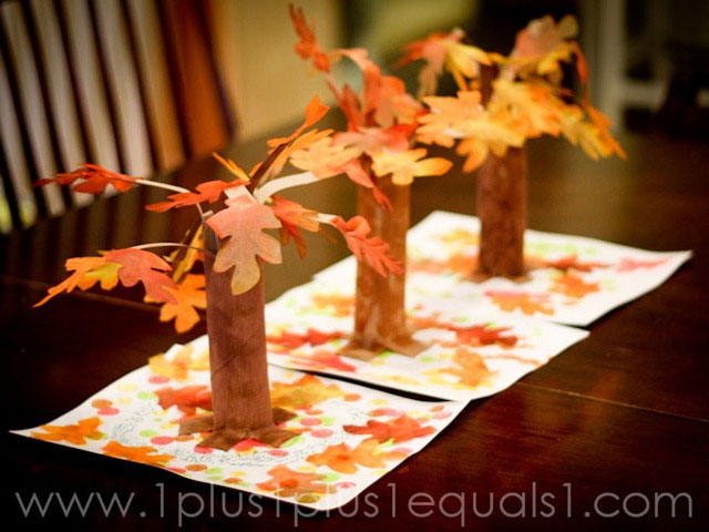 Fall Crafts - Paper Towel Tree