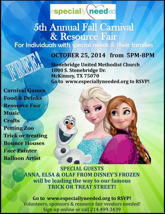 Especially Needed Fall Carnival and Resource Fair - North Texas Kids Magazine