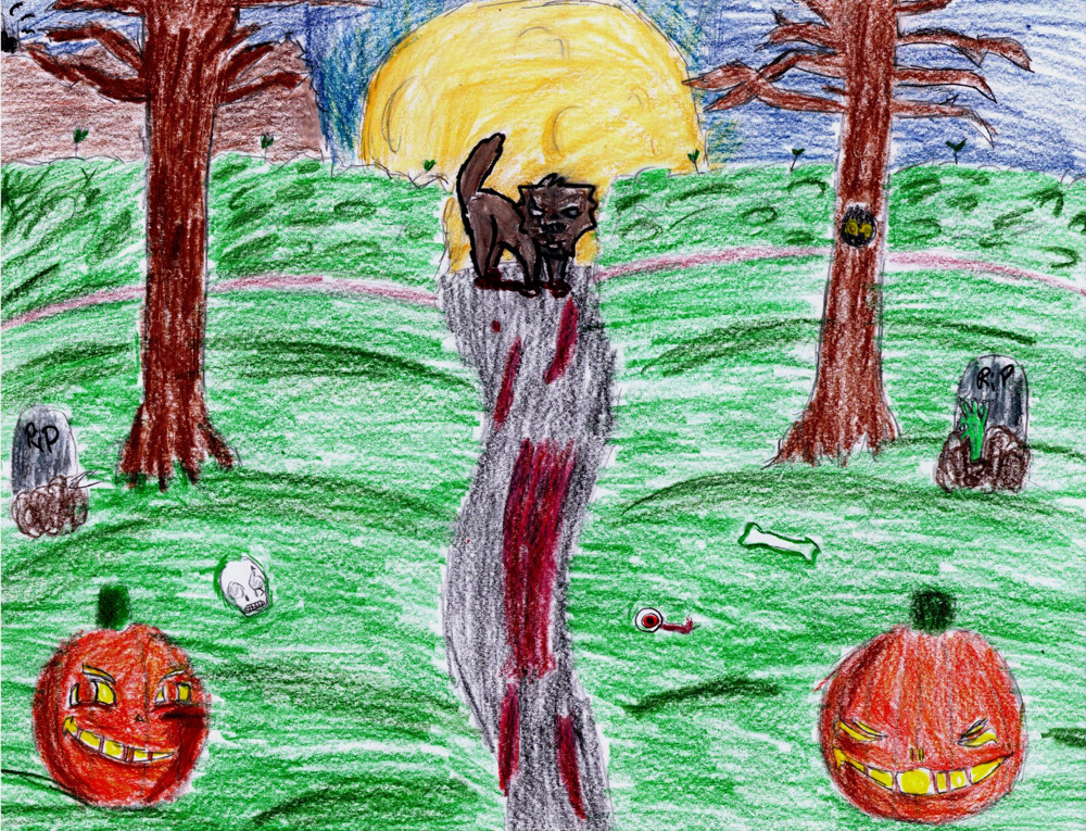 Halloween Art Contest - Creepy Night - North Texas Kids Magazine