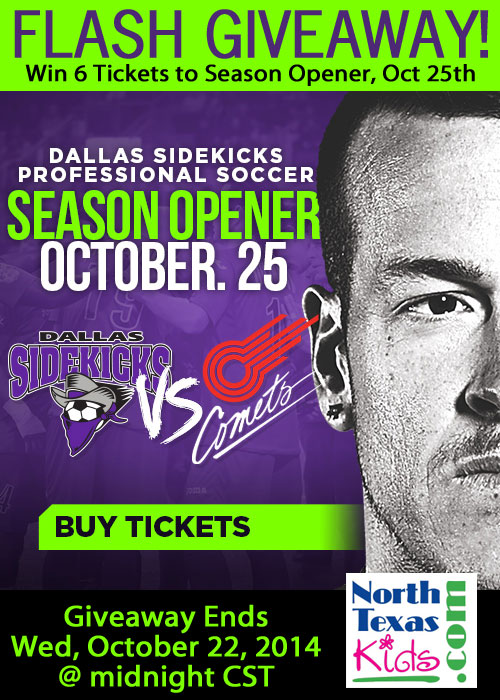 Dallas Sidekicks 2014 Season Opener Ticket Giveaway - North Texas Kids Magazine