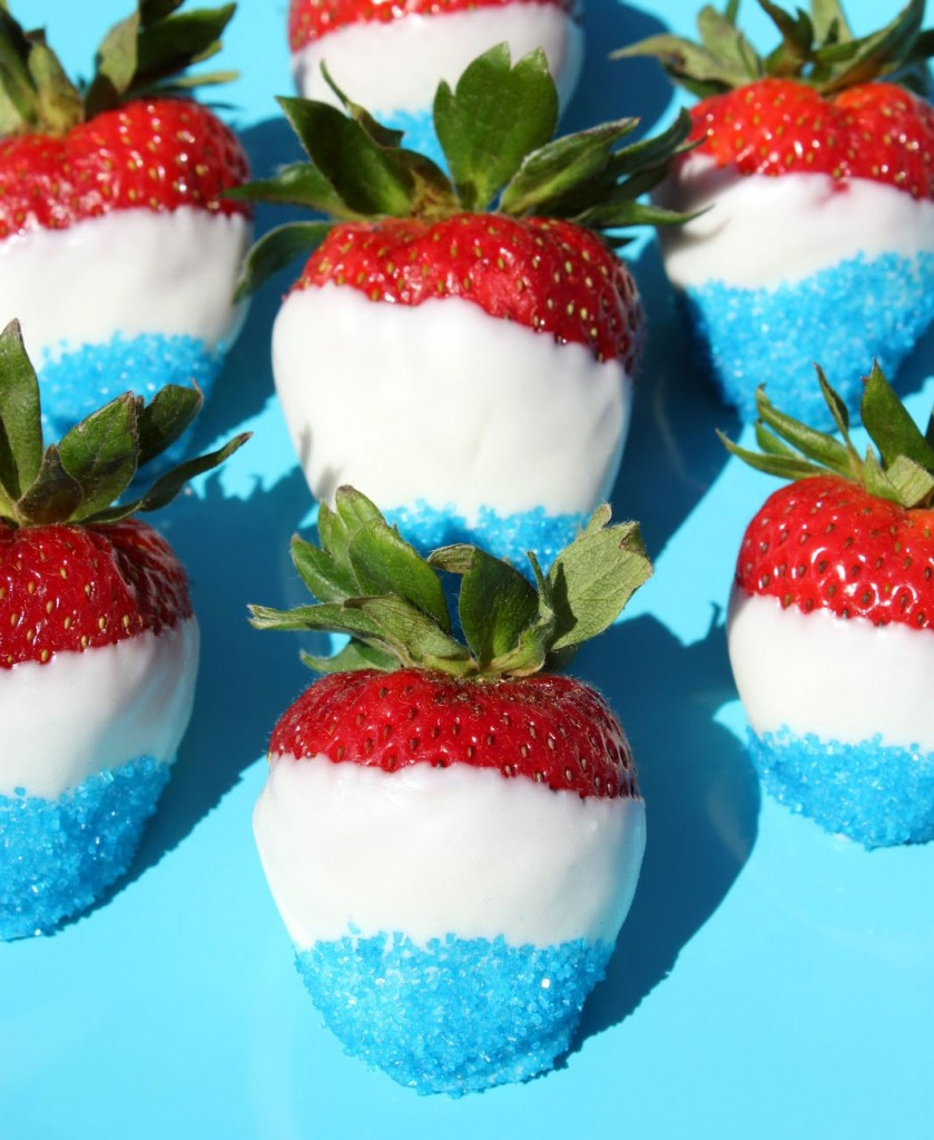 Red Whie and Blue Desserts - strawberries