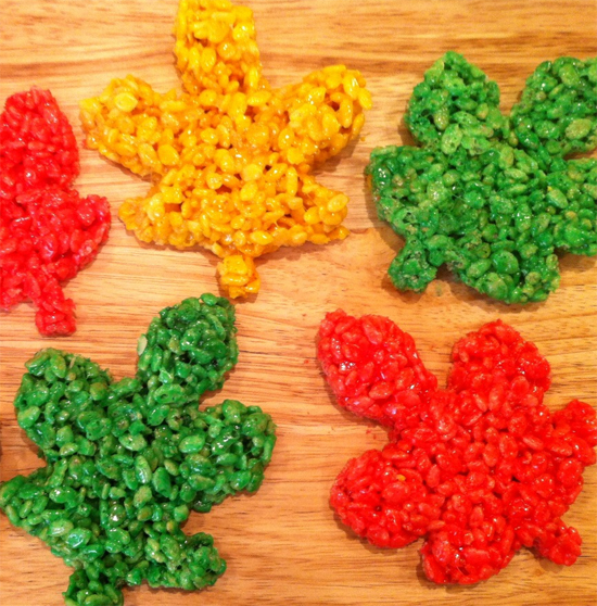 Fall treats - Rice Krispies Leaves - North Texas Kids Magazine