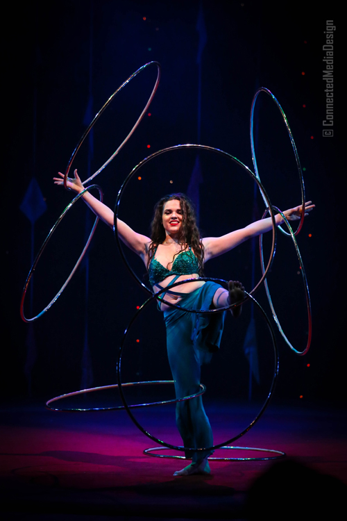 Hula Hoops - Jesse Patterson - Lone Star Circus - Zingari - Mina Frannea