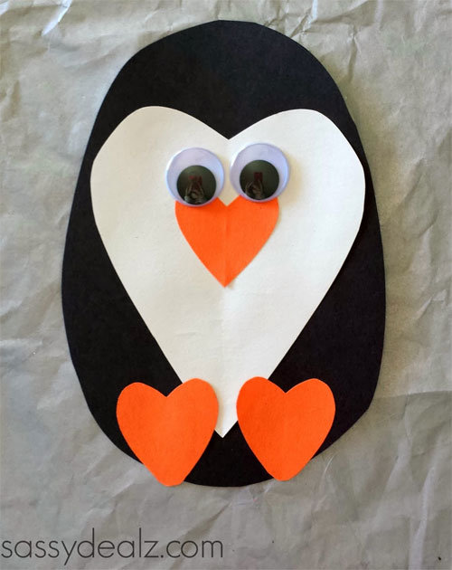 Winter Holiday Crafts - Paper Penguin Craft