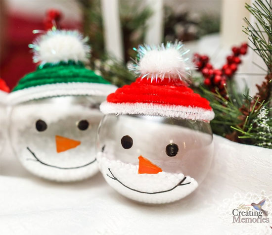 Winter Holiday Crafts - Snowman Ornaments