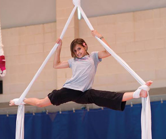 Lone Star Circus School Summer Camps - Aerial Silks - North Texas Kids Magazine