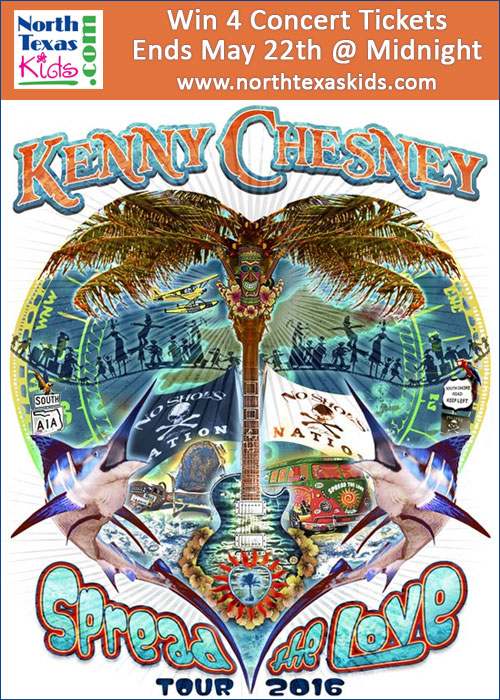 Kenny Chesney - Ticket Giveaway - North Texas Kids Magazine