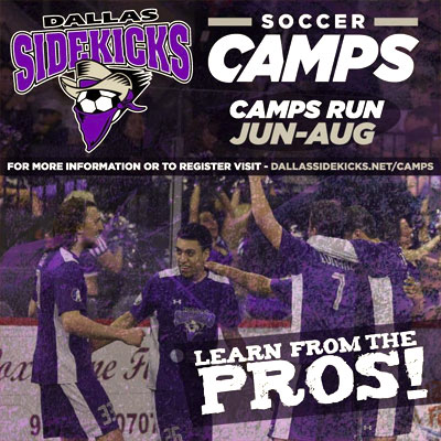Dallas Sidekicks Soccer Camp - Free summer camp - North Texas Kids Magazine