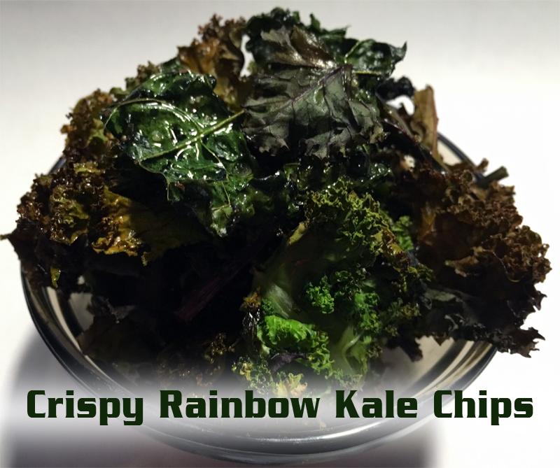 crispy kale chips - crispy rainbow kale chips