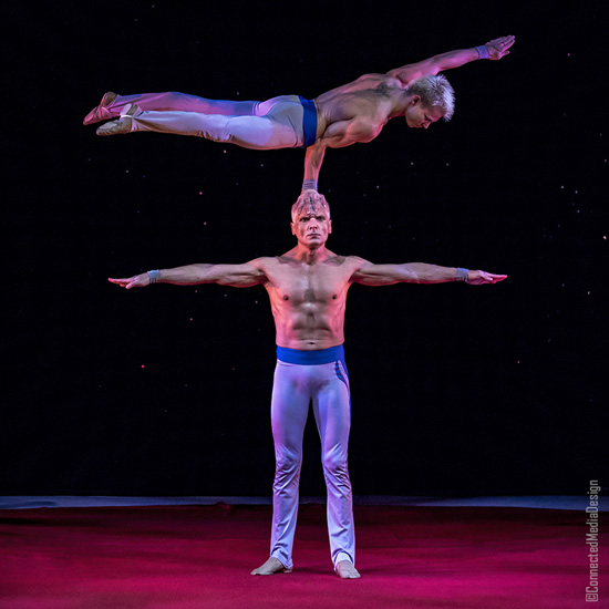 The AcroDuo - La Fete - Lone Star Circus - Dallas Children's Theater - North Texas Kids Magazine (CMD)