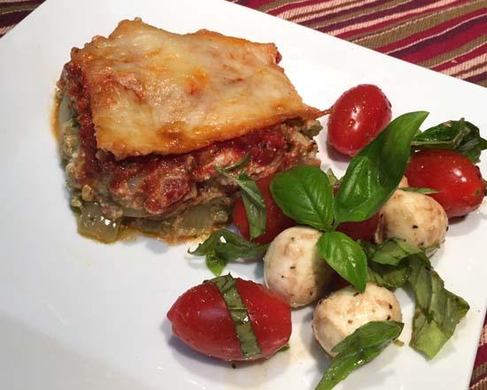 Chicken Pesto Ricotta Bake & Tomato Caprese