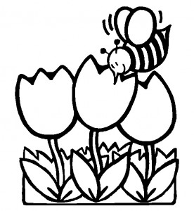Spring coloring page - tulips  coloring page - north texas kids magazine