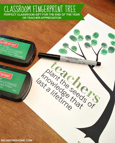 Teacher Appreciation Gifts - Fingerprint Tree - North Texas Kids Magazine