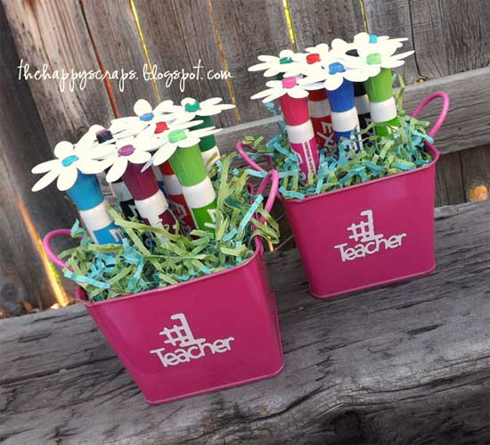 Teacher Appreciation Gifts - Dry Erase Marker Bouquet - North Texas Kids Magazine