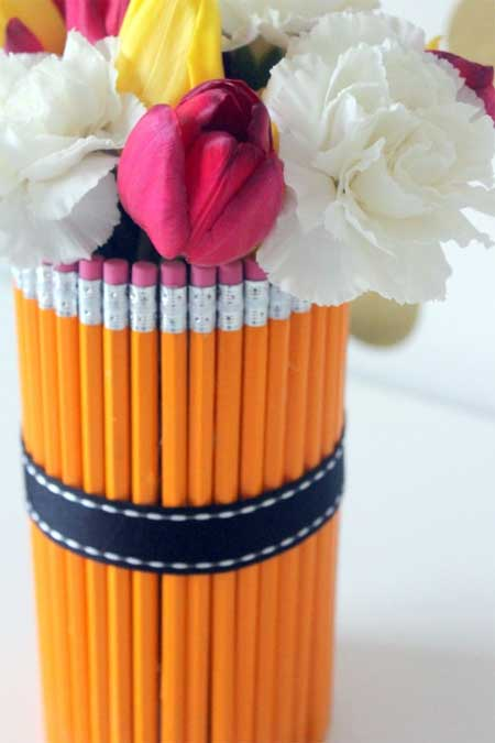 Teacher Appreciation Gifts - Pencil Vase with Flowers - North Texas Kids Magazine