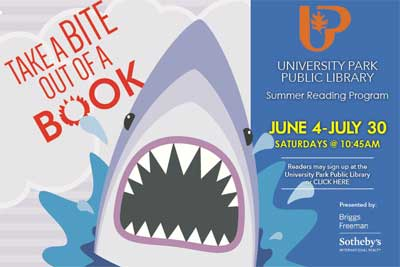 University Park Summer Reading - Up with Reading - North Texas Kids Magazine