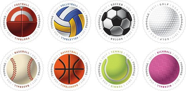 Sports stamps - sports postal stamps -  North Texas Kids Magazine